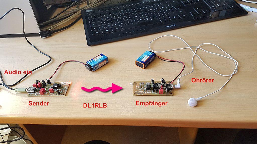 Lichtsprechsender und Empfänger DL1RLB