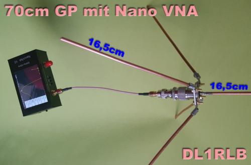 70cm Groundplane Antenne