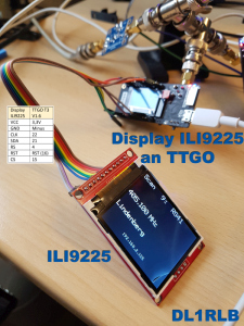 Display ILI9225 am TTGO